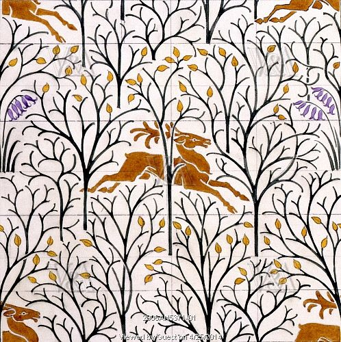 Design for The Deer in the Forest, by C.F.A. Voysey. England, 1918