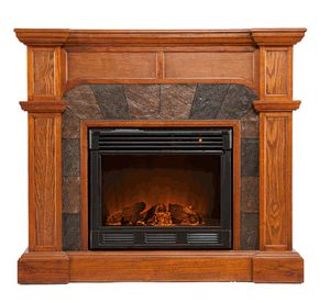 Like the lines not the stain color. FE9285 Cartwright Mission Oak Portable Electric Fireplace