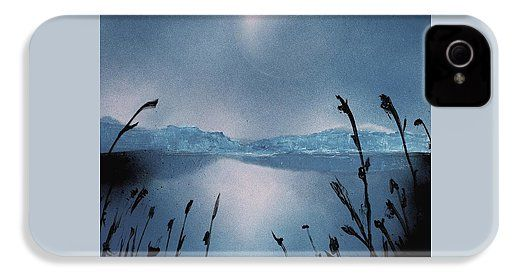 Moon Fog IPhone 4 / 4s Case Printed with Fine Art spray painting image Moon Fog by Nandor Molnar (When you visit the Shop, change the orientation, background color and image size as you wish)