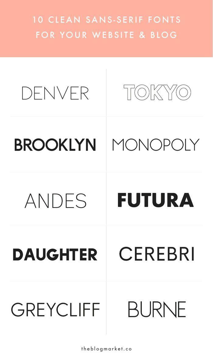 10 crisp & clean sans serif fonts for your blog – #amp #Blog #design # For #strokes