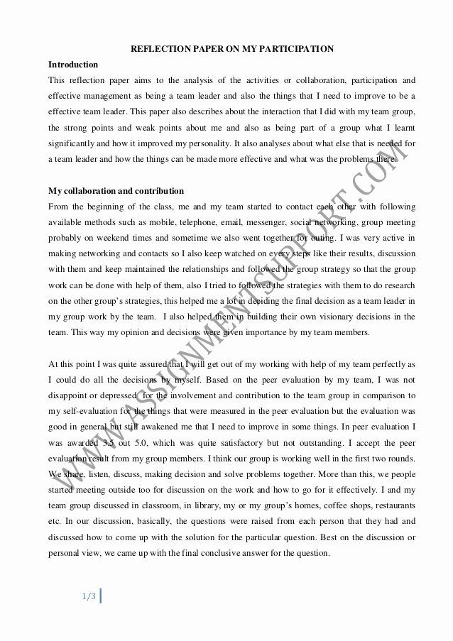 Art Institute Essay Example Best Of Reflective Essay Essay Sample From Assignmentsupport Reflection Paper Essay Examples Self Reflection Essay