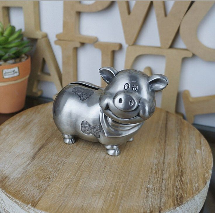 """S"" fashion family decoration Vintage metal Money box lovely Pig coin metal piggy bank Saving Box creative birthday gift //Price: $23.95 & FREE Shipping //     #hashtag1"