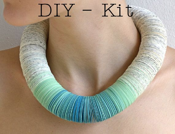 DIY Jewelry Kit  Necklace made of book pages and by PaperStatement, €33.00