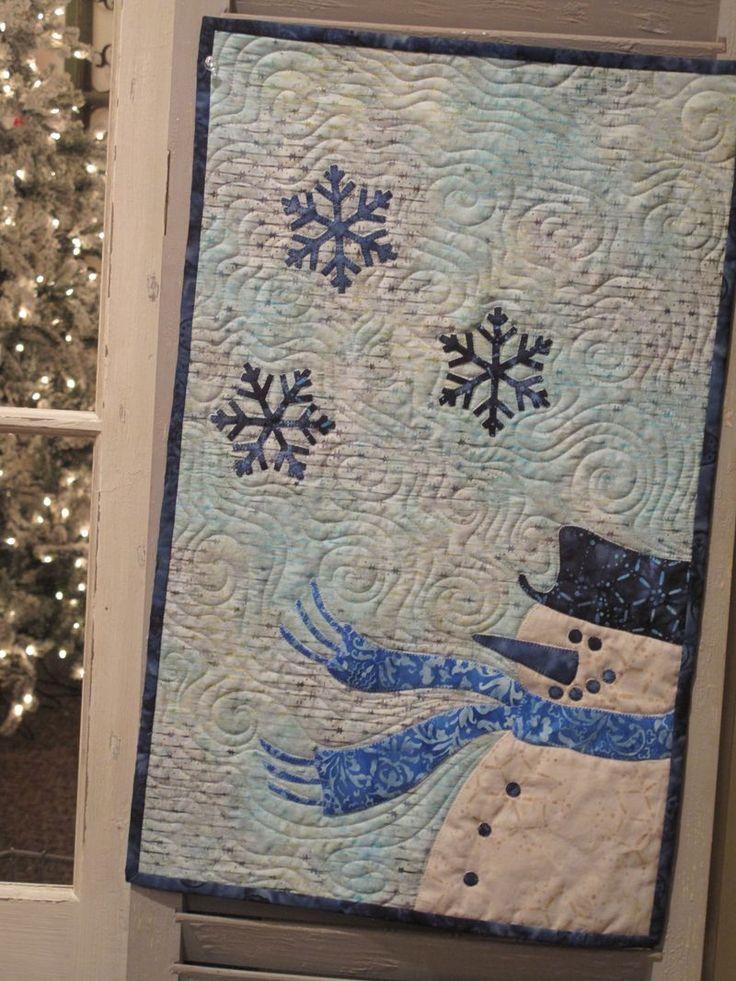 The snowman likes the snow