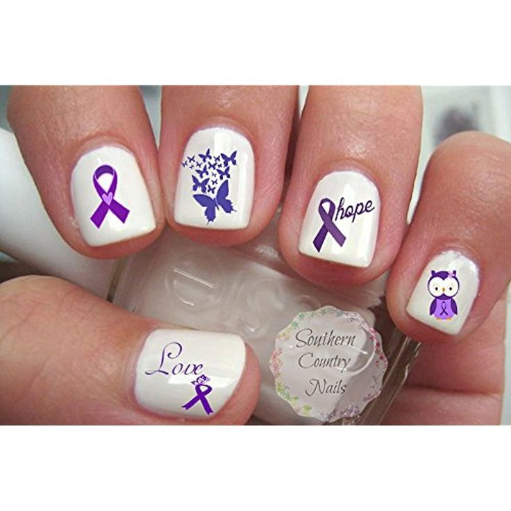 949 best nail art accessories images on pinterest nail care purple ribbon awareness design nailartaccessories prinsesfo Images