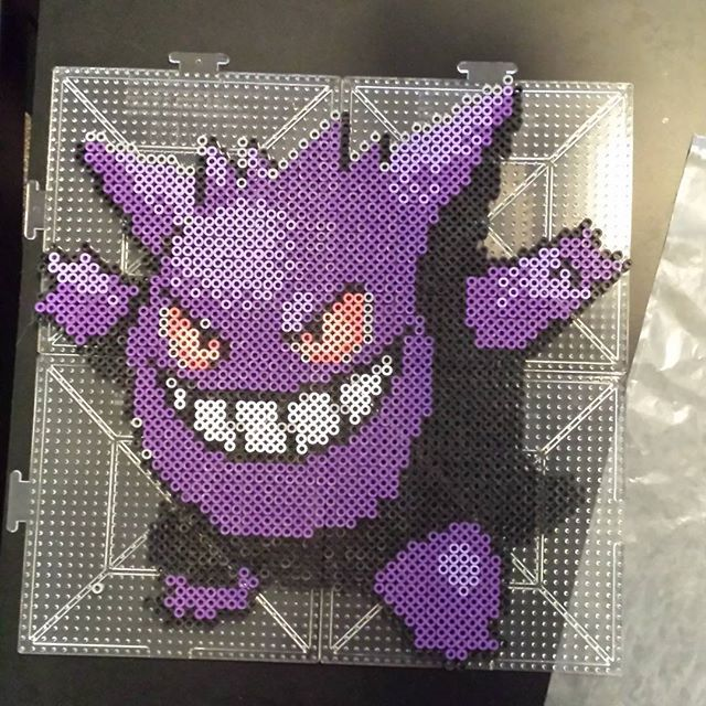 Gengar (094) Pokemon perler beads by mikegorr