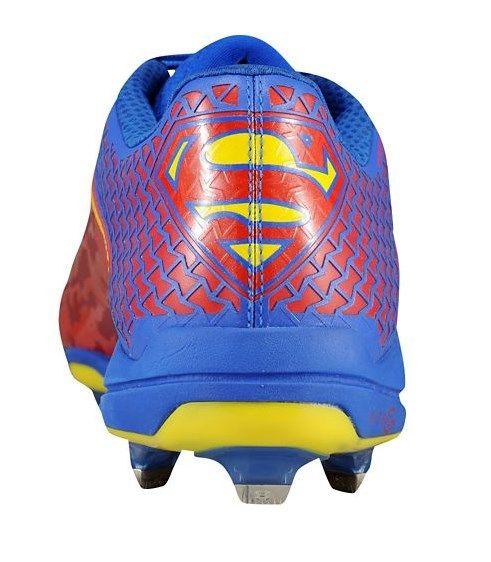 First superman baseball cleats