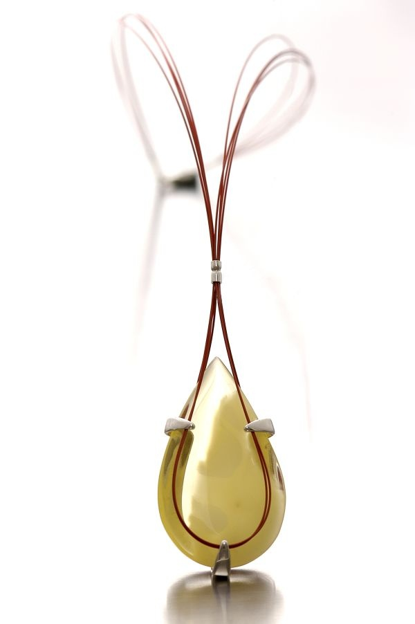 One off exquisite design, natural Baltic amber