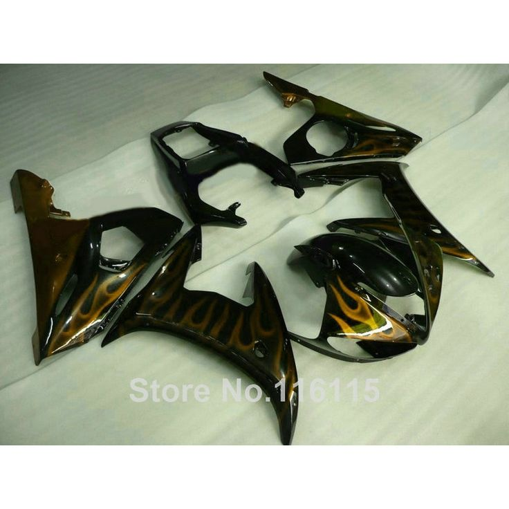 304.00$  Watch here - http://alicaa.worldwells.pw/go.php?t=32620832063 - Hot sale ABS fairing kit for YAMAHA YZF-R6 03 04 05 yellow flames in black aftermarket YZF R6 2003 2004 2005 fairings set TH70