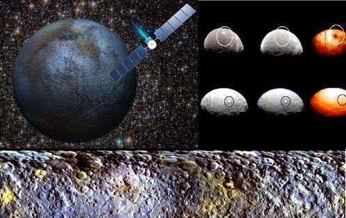 """Os pontos Brilhantes Misteriosos no Planeta Anão """"Ceres"""" Segredos são """"Revelados"""""""