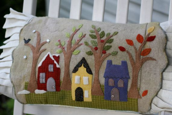 Seasons Wool Applique Pillow Kit (From Savor The Seasons Pattern Book)