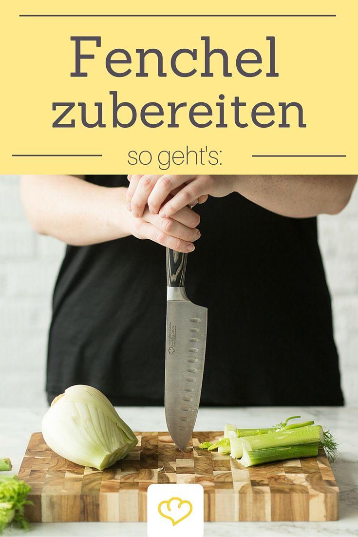 """Jetzt geht's der Fenchel an die Knolle! Schritt für Schritt erklärt, wie ihr das leckere Gemüse am besten zubereitet. Wenn ihr diesen Artikel gelesen habt, seid ihr Fenchel-Experten! Das scharfe Messer und das tolle Brett sind übrigens aus der """"Springlane Selection""""."""
