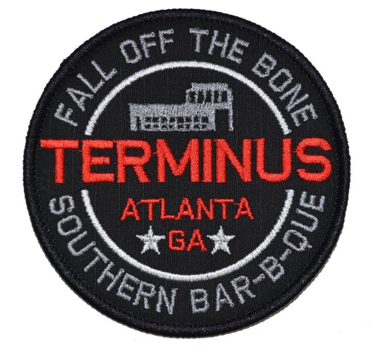 Terminus Cannibal Barbecue Walking Dead Parody - 4 inch Round Patch - Tactical Gear Junkie