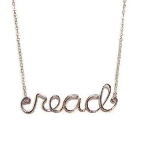 Read Necklace, now featured on Fab.