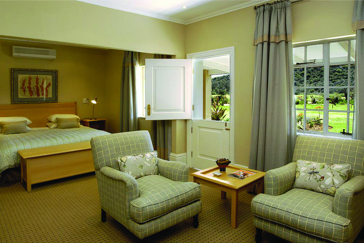 You wake up in a Beautiful Room to a breathtaking view at Bushman Sands Hotel, Golf Estate