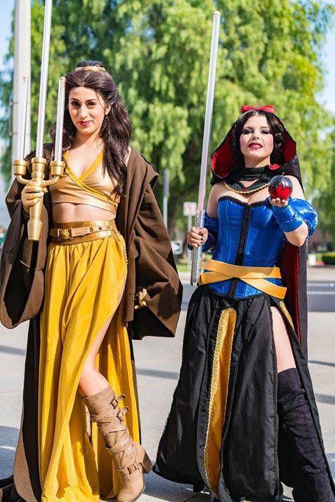 Jedi/Disney - coplayers Elizabeth Rage as Belle and Amber Arden as Snow White https://www.flickr.com/photos/134712202@N07/24377847559/in/album-72157664026588091/