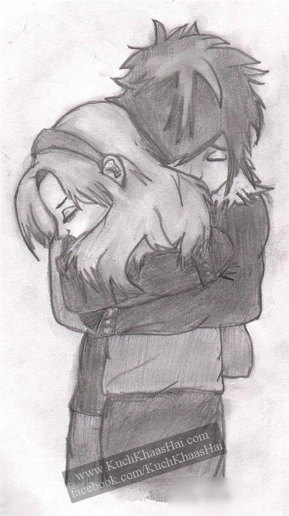 sketch of a hug... | Romantic Pencil Sketches | Pinterest ...