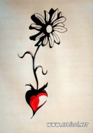 Papatya dövme modelleri (daisy tattoo) | Çiçek Dövmeleri ...