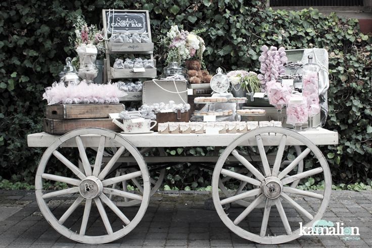 www.kamalion.com.mx - Mesa de Dulces / Candy Bar / Postres / Wedding / Boda / Rosa Gris / Pink Gray / Vintage / Rustic Decor.
