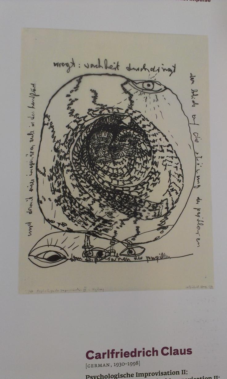 Carlfriedrich Claus  Fehlerhafte Psycho-Improvisation (Psychologische Improvisation: Vigilanz) 1972