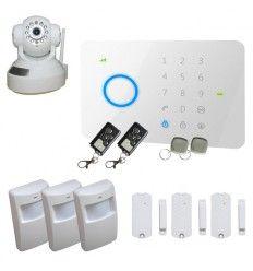 Alarme Maison sans fil GSM 3/4 pièces + Caméra IP Wifi