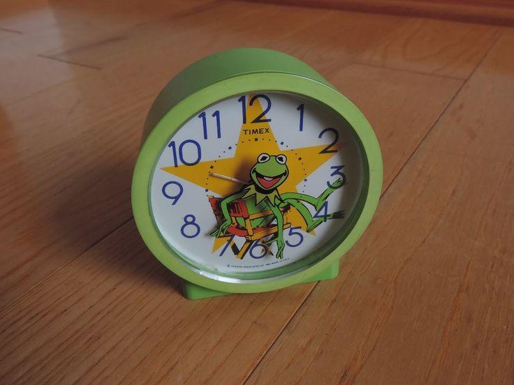 Vintage Timex Muppets Kermit The Frog Alarm Clock (e140)