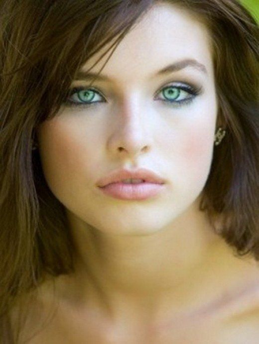makeup fair skin brown hair
