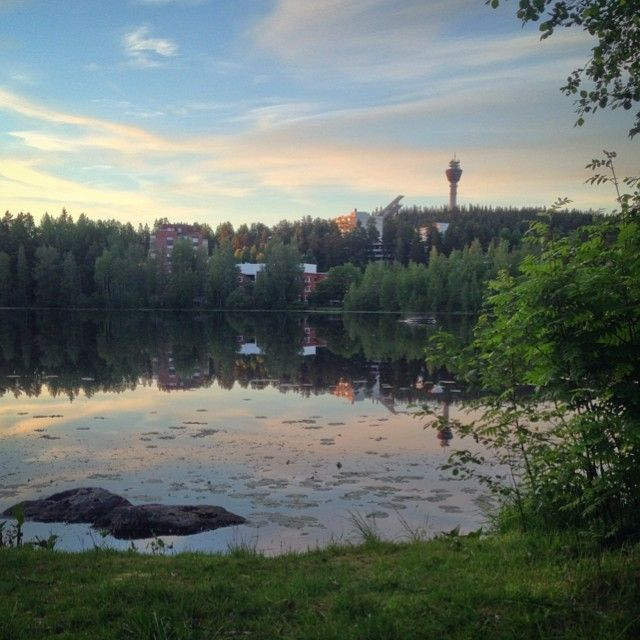 Awesome view at 11.30 pm at the #Sammakkolampi in #Puijonlaakso - #Kuopio #Finland #Summer