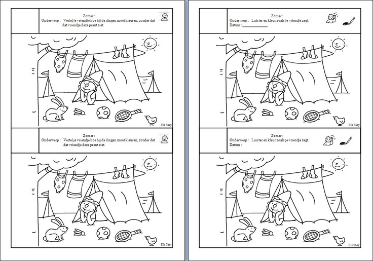 Zomer. Tekeningen gebruikt van  www.schatkist.be/...
