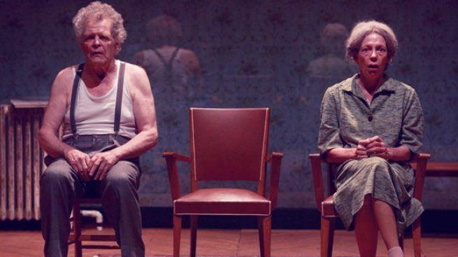 """""""Les chaises""""  de Eugène Ionesco mise en scène de Bernard Levy avec  Thierry Bosc et Emmanuelle Grangé  MC2 Grenoble"""