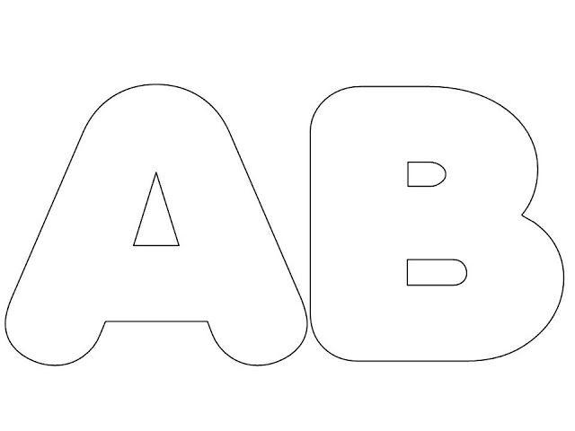 moldes do alfabeto grande