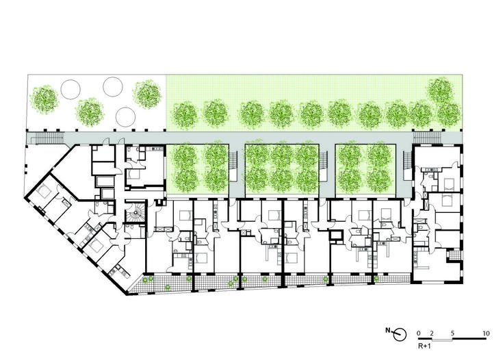 Social Housing,Plan R+1