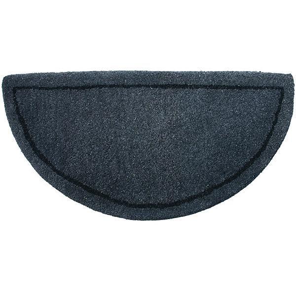 Gray Hand-Tufted Wool Hearth Rug