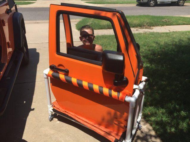 diy door storage cart jeep wrangler