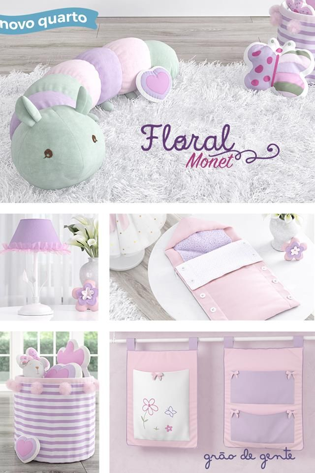 daa61ea975 O Quarto de Bebê Floral Monet vem com acessórios funcionais e super fofos!  ✨💝