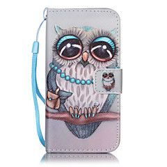 For iPhone 7Plus 7 6s Plus 6Plus 6S 6 SE 5s 5 PU Leather Material Gray Owl Embossed Protective Cover – NZD $ 14.68