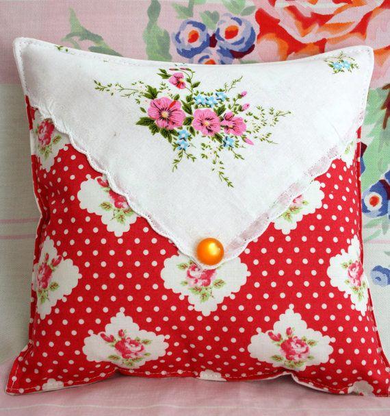Envelope vintage style pillow