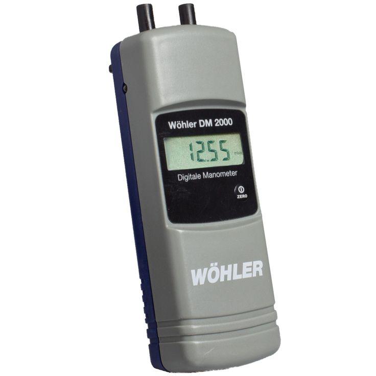 Wohler Dm 2000 Digital Manometer - Burner Adjustment Gas / Oil - Measuring Instruments Heating Systems - Applications | Wohler USA