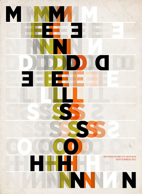 Mendelssohn Poster | Paul Grech #GraphicDesign #illustration #type #poster