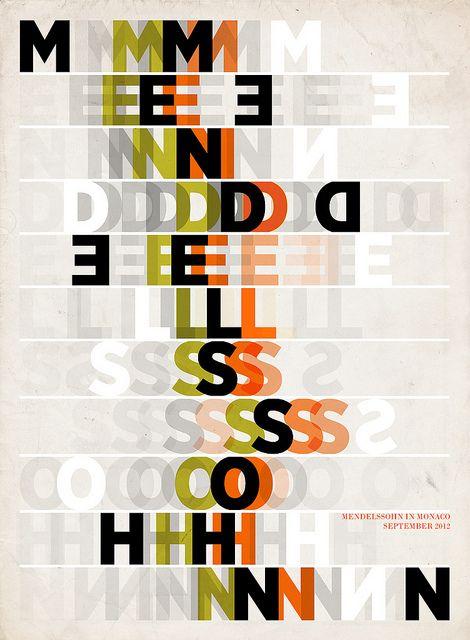 Mendelssohn Poster | Paul Grech #GraphicDesign #illustration #type #poster