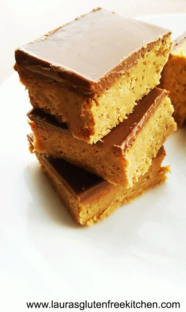 Gluten Free Peanut Butter Bars --- The perfect treat and Christmas time. Easy affordable and only 5 ingredients.