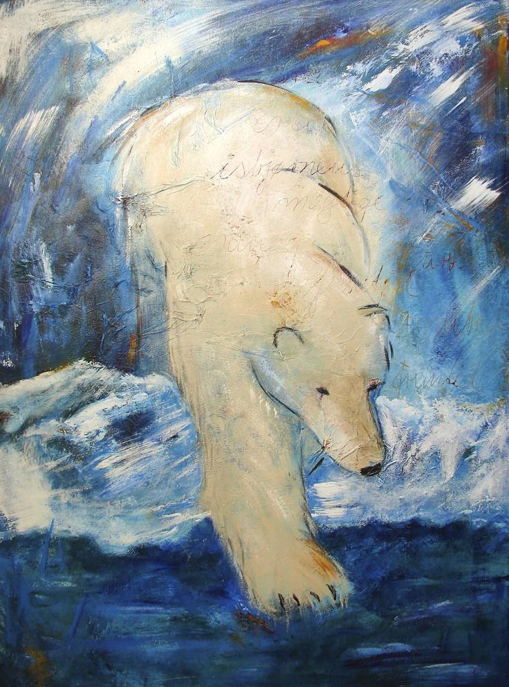 Polar bear, 60 x 80 cm
