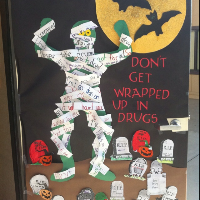 red ribbon week door decorating inspiration - Free Decoration Ideas