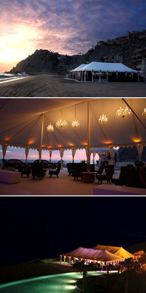 Don't you wish you could have attended this wedding? Luxury wedding tents on the beach from Raj Tents via JunebugWeddings.com