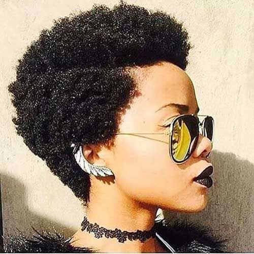 Short Afro Hair style