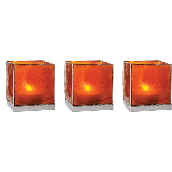 Mango Orange Capiz Cube Candles Holders (silver Edged) ($4.25) ❤ liked on Polyvore featuring home, home decor, candles & candleholders, orange home accessories, handmade home decor, seashell candle holder, square candle holder and seashell home decor