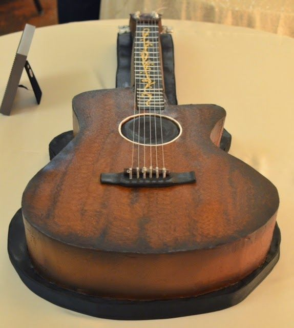 Cup a Dee Cakes Blog: 3D Acoustic Guitar Groom's Cake