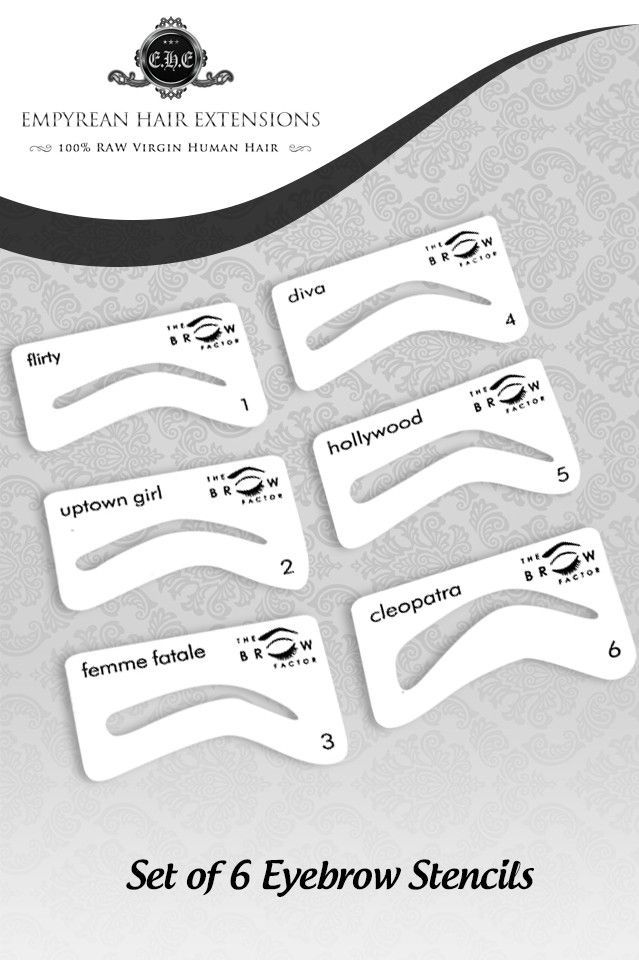 Use the same tools that the professionals do. These eyebrow stencils will make it simple to get that fabulous movie star look.
