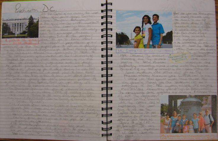 My 8th grader--N.M.--one was of our nine kids who won at the state level of National History Day, and he competed in Washington, D.C.  I told all those kids I expected amazing summer notebooks of D.C.  This student didn't disappoint.  Read about my writer's notebook program here:  http://corbettharrison.com/Summer-Expectations.htm