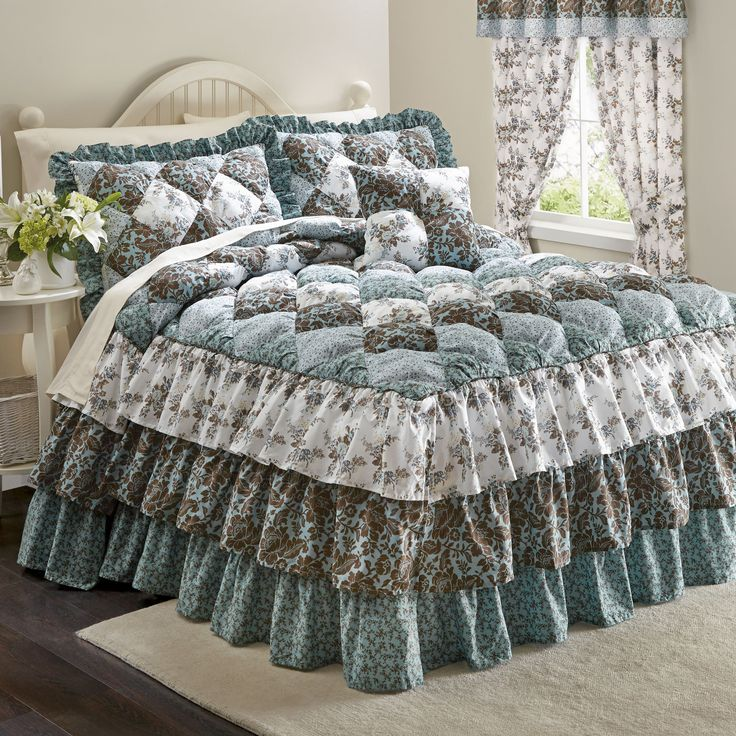 Alexis Puff Top Printed Bedspread & More